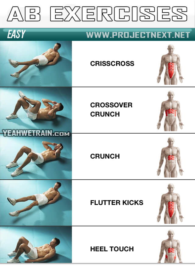Ab Exercises Easy 1 Best Health Fitness Sixpack Workout
