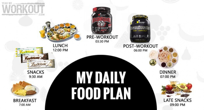 My Daily Food Plan - Healthy Fitness Eating Training Plan ...