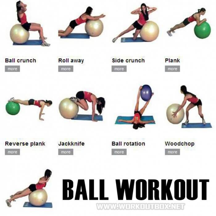 Ball Workout Plan Health Fitness Training Routine Full Body Ab