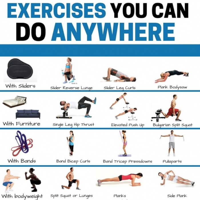 Exercises You Can Do Anywhere! Best Fitness Tips You Need