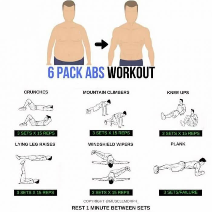 6 Pack Abs Workout Plan Healthy Sixpack Training